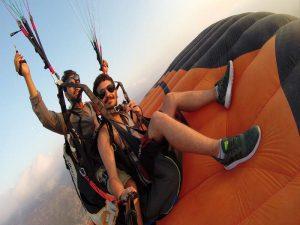 yamaç paraşütü kol uçuşu